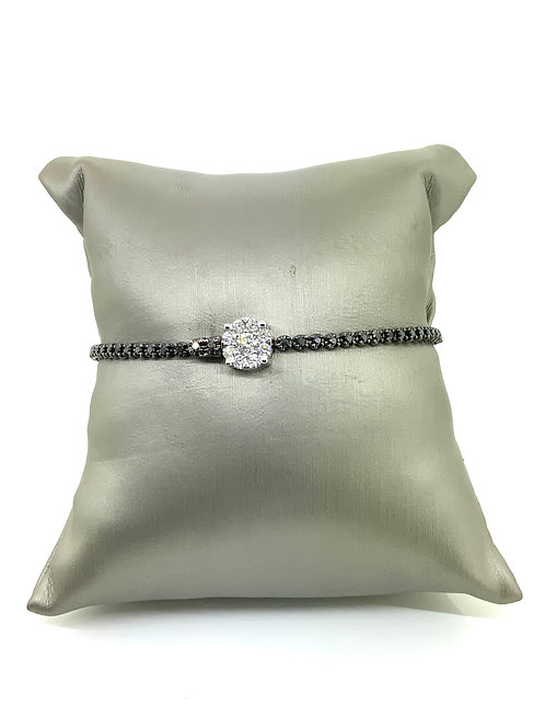 Diamond clasp bracelet b&w