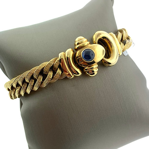 """7"""" Yellow Gold Cable Bracelet"""