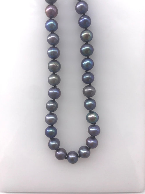 "18"" Grey and Black Pearl Necklace"