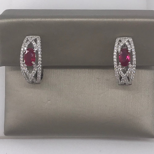 Ruby Diamond Earring