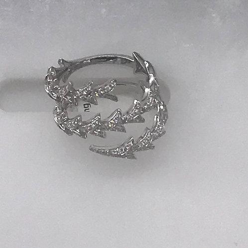 Wrap Around Triangle Diamond Ring