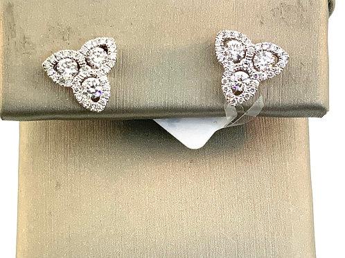 Tri-point diamond studs