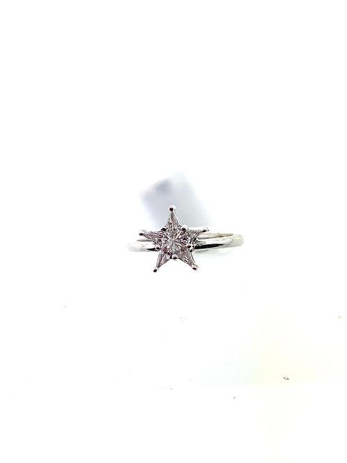 Diamond star ring