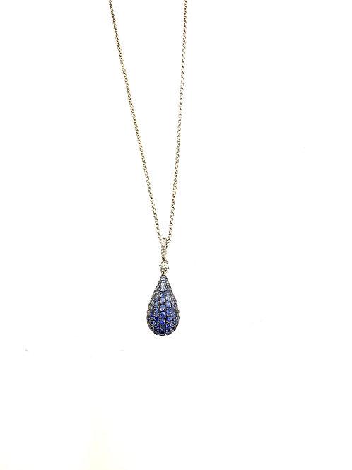 Sapphire ombré drop pendant