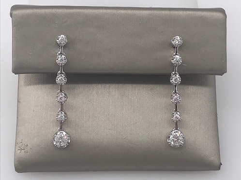 Diamond Line Bar Earring