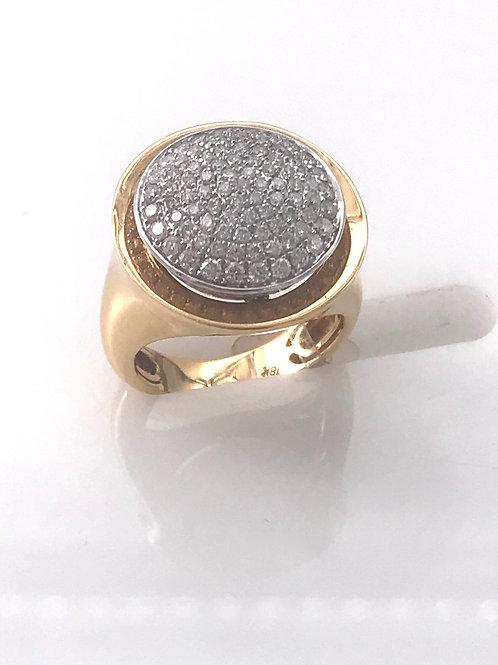 Pave Diamond Rose Gold Circle Ring