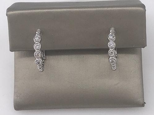 4 Bezel Diamond Earring