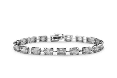 Emerald Cut Illusion Bracelet