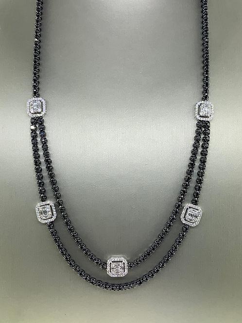 Double line tennis necklace
