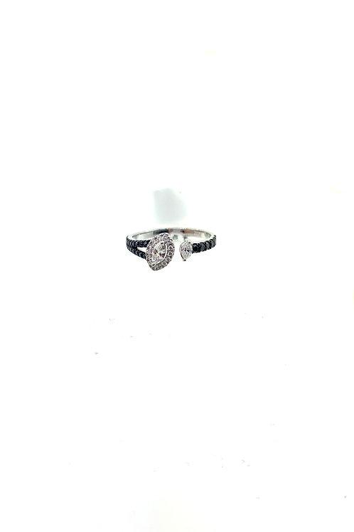B&W marquis ring