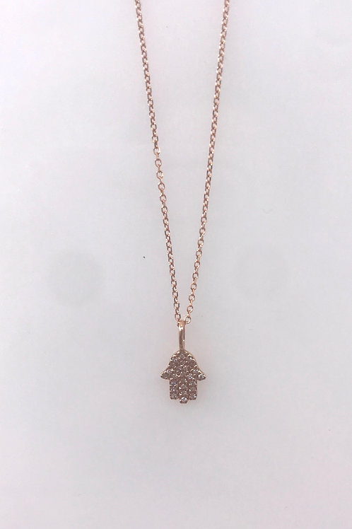 Rose Gold Diamond Hamsa