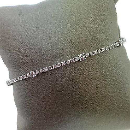 Diamond Line Toggle Bracelet