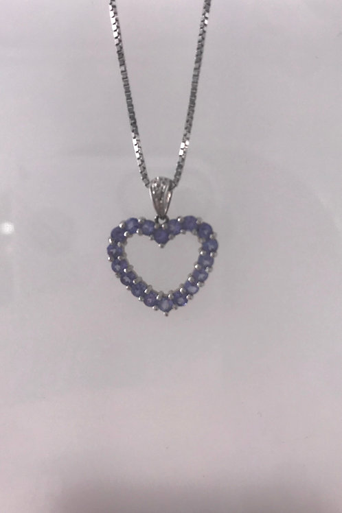 White Gold Tanzanite Heart