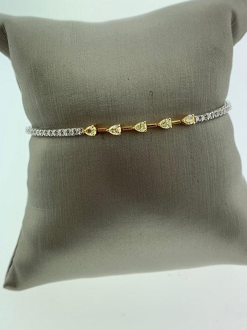 Yellow and White Gold Diamond Bracelet
