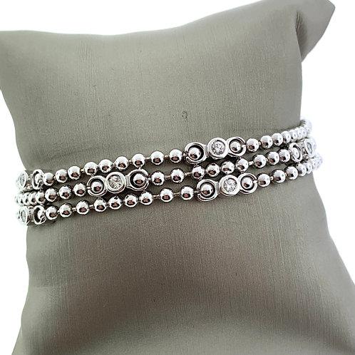 Flex Multi Bezel Diamond Bracelet