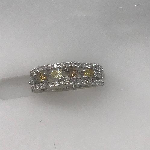 3 Line Diamond Ring
