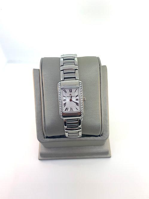 Maurice Lacroix rectangular diamond watch
