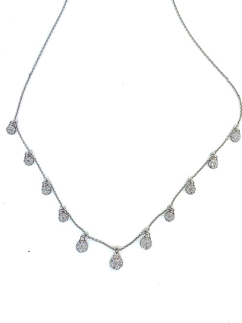 Pave diamond drop necklace