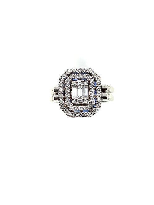 Diamond Sapphire Flip Ring