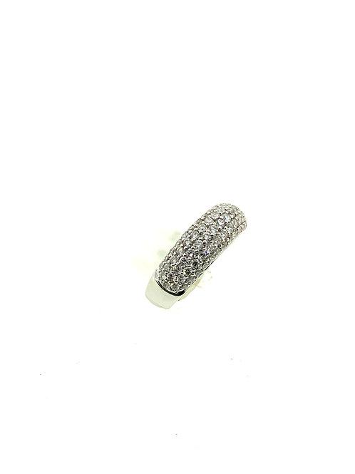 Wide pavé diamond ring