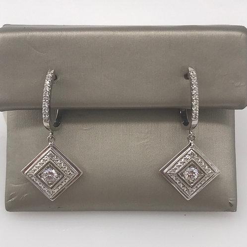 Square Diamond Vintage Earring