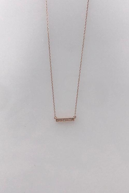 Rose Gold Diamond Bar