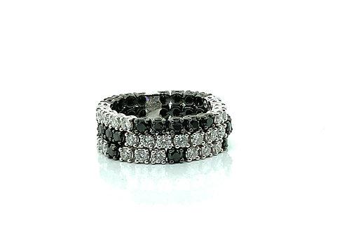 B & W diamond flex ring