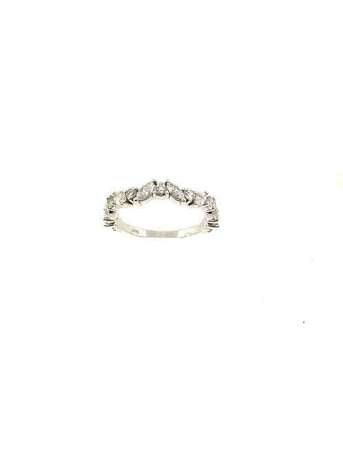 Marquis and round diamond ring