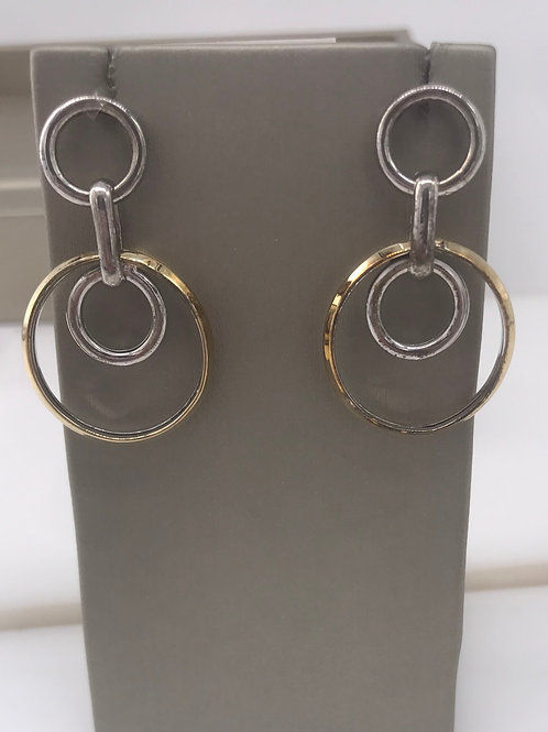 Two Tone Loop Dangle Earring
