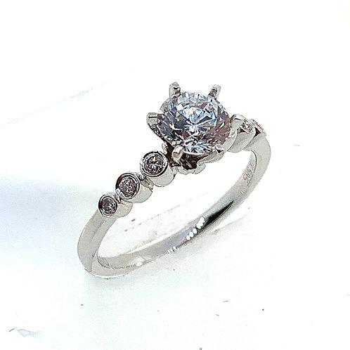 Bezel engagement ring setting