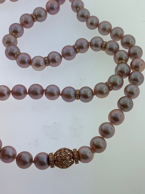 Pink Sea Pearl Necklace