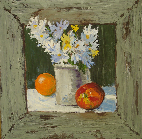 Daisies and Fruit