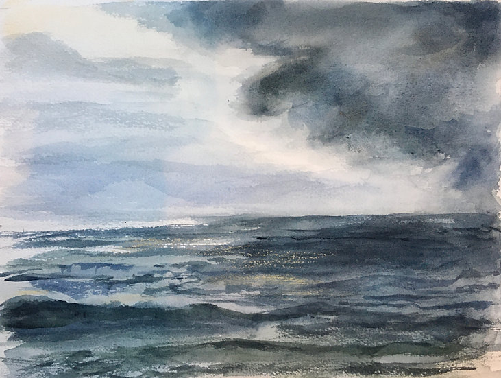 Receding Storm on the Atlantic