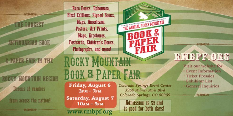 The Annual Rocky Mountain Book & Paper Fair
