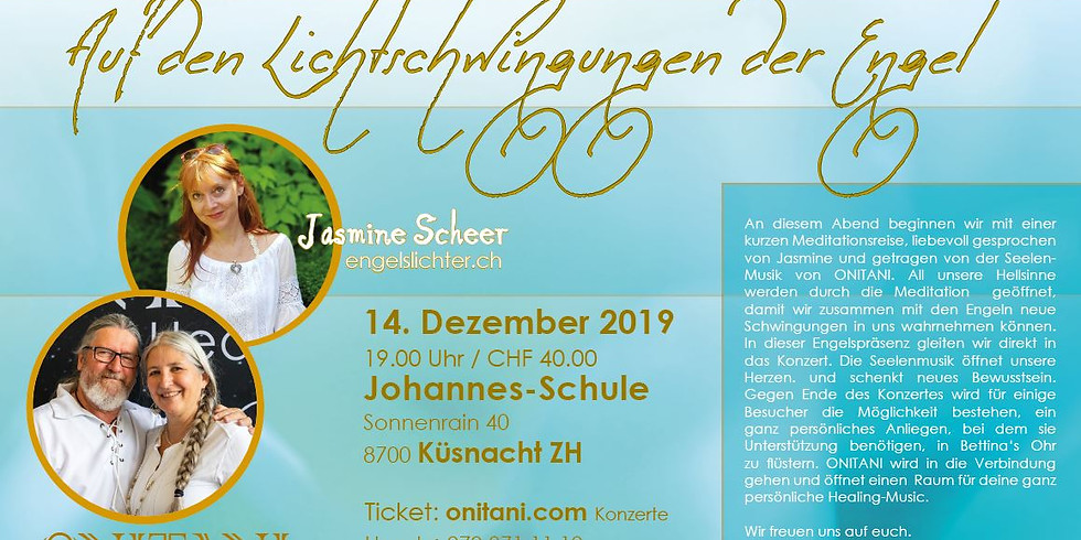 Meditation und Heilkonzert mit Onitani: Auf den Lichtschwingungen der Engel