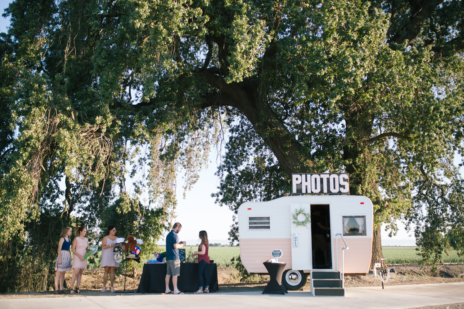 vintage photo booth trailer