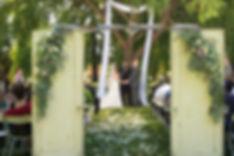Wedding arch, cermony, door entry way