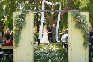 Wedding arch, cermony, door entry way