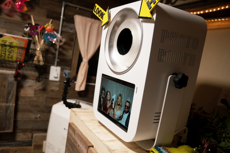 Vintage photo booth touch screen