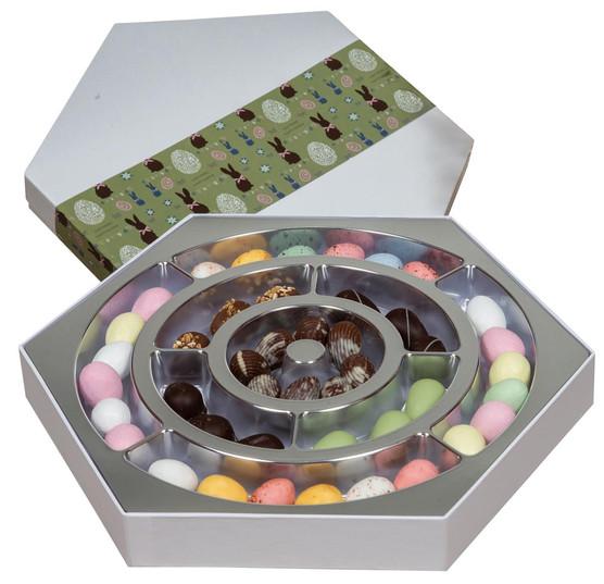 Påske chokoladeæske ass. chokolade 510-5