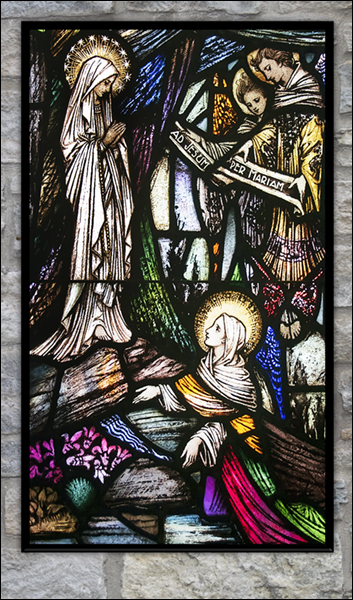 T1035 St Bernadette Stained Glass