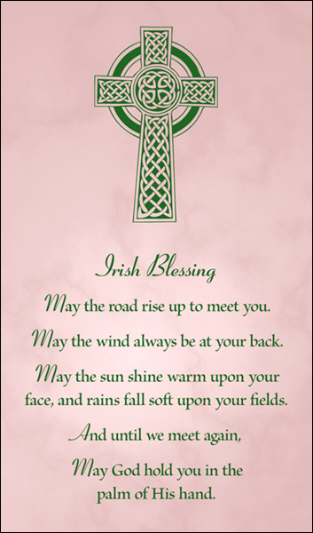 T1021 Irish Blessing Pink