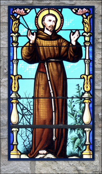 T1040 St Francis Stained Glass