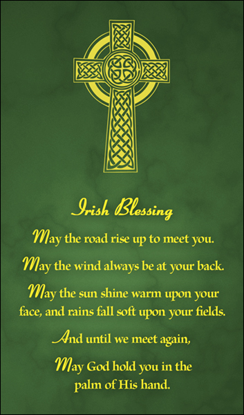 T1020 Irish Blessing Green