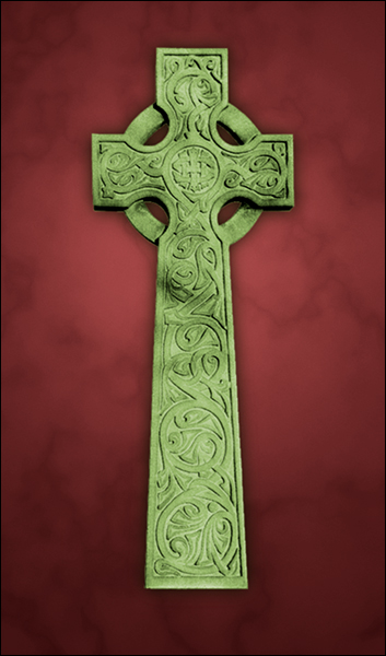 T1019 Celtic Cross Red