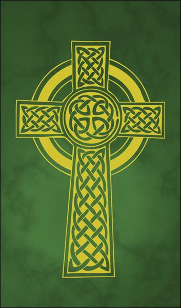 T1017 Celtic Cross Green