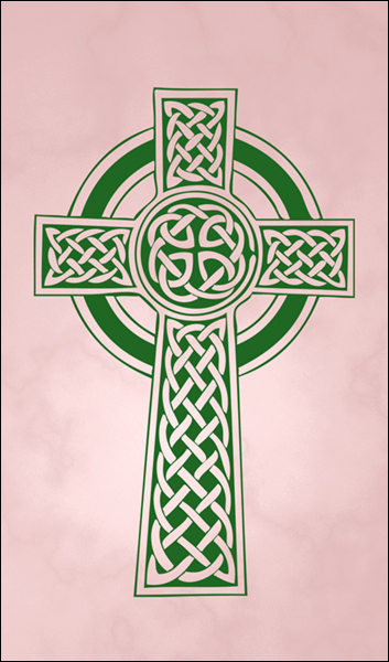 T1018 Celtic Cross Pink