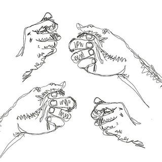 Hand positions. . . . #hands #sketch #sk