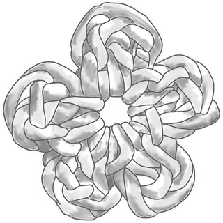 Crochet flower sketch which developed in