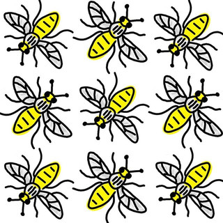 Manchester bee pattern . . . #manchester